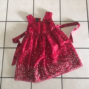 GIRLS SZ 6 RED HOLIDAY FORMAL DRESS